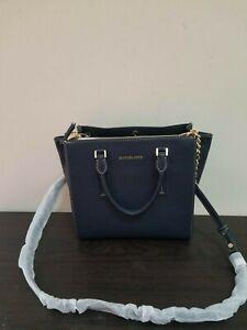 MICHAEL MICHAEL KORS Alessa Medium Pebbled Leather Satchel Handbag