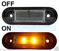 12V/24V FLUSH FIT AMBER LED SIDE MARKER LAMP / LIGHT TRUCK VAN KELSA BAR AS RDX