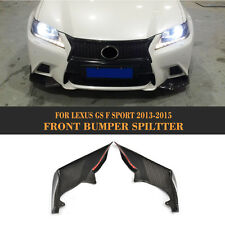 Carbon fiber Front Lip Spoiler Splitter Fit For Lexus GS350 F-Sport Bumper 13-15