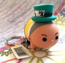 Authentic New Disney Tsum Tsum Figural Vinyl Keychain Mad Hatter Series 1
