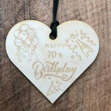 70th Birthday Wooden Hanging Heart Wedding Plaque Gift LPA3-15