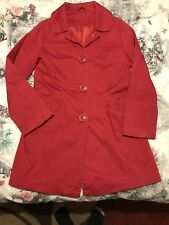 DOROTHY PERKINS Womens Red Trench Mac Style Coat Jacket. Size 10