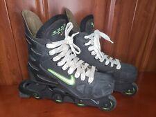 NIKE Zoom Air Roller Hockey Inline Skates Mens Size 12 Black Lime Green 97024