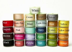 May Arts 100% Pure Silk 7mm Ribbon - sold by the metre