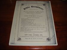 BIBLE EXAMINER October 1876 GENTILE TIMES C.T. RUSSELL Watchtower Jehovah IBSA