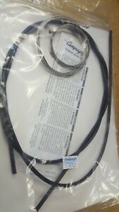 NOS Campagnolo Record BRAKE Cable Set 580mm x 1250mm (Black) Retro Cables (NEW)