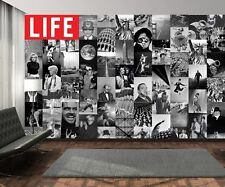 Creative Collage - 64 Piece Designer Wallpaper - LIFE Magazine B&W (Inc Paste)