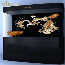 Gold Dragon PVC Aquarium Background Poster 3D Fish Tank Decorations Landscape