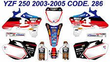 286 YAMAHA YZF 250 2003-2005 DECALS STICKERS GRAPHICS KIT