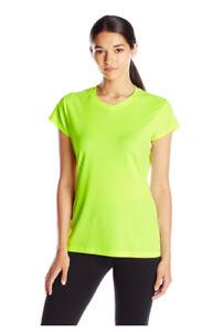 ASICS Women's Circuit 7 Warm-Up Shirt Neon Green Size M