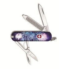 Victorinox Swiss Army Key Chain Knife Classic Ltd Ed - Fire Works - Free Ship