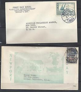 LIBERIA 1930'S-47 COVERS FROM MONROVIA TO U.S. ONE IS FDC