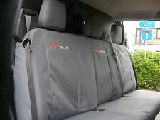 Ford Transit Custom Cab in 2013 on Tailored Rear Seat Covers.+Free Embroidery