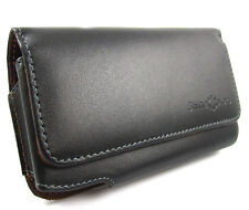 Black genuine Leather Belt Clip Pouch Holster Case for Apple iPhone 5 5SE 5C 5G5