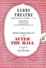 """Noel Coward """"AFTER THE BALL"""" Mary Ellis / Peter Graves 1954 London Playbill"""