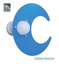 Luna Plafoniera Colore Azzurro per Camerette Bambini
