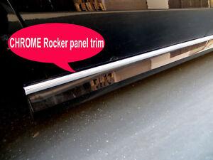 2005-2018 AUDI Chrome SIDE ROCKER PANEL Trim Molding Kit 2PC