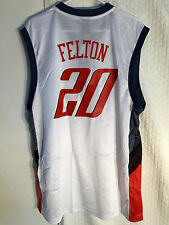 Adidas NBA Jersey Bobcats Raymond Felton White sz 2X f96ff7e39