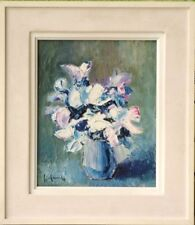Tableau signé Franchi Gilbert Belfort Bouquet de fleurs 1950 / 1970