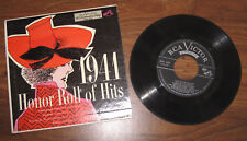 "EP ""Honor Roll Of Hits 1941"" Glenn Miller, Sammy Kaye, Artie Shaw, Freddy Martin"