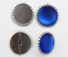 25mm Round Jewel  Brads Settings with 2 Prongs - 15 Pieces