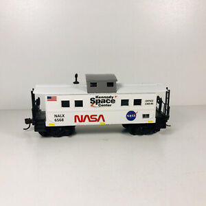 HO Custom NASA Advertising Caboose Billboard Office Car # 4 Knuckle Couplers