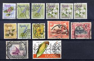 Verschiedene Marken aus Uganda, gestempelt, ansehen, (L08)