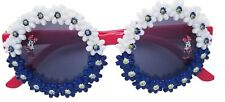Disney Store Minnie Mouse Red White and Blue Floral Sunglasses For Girls