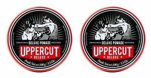 Uppercut Deluxe Pomade Strong Hold High Shine Hair Styling Pomade For Men 2x100g