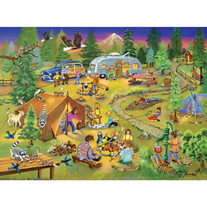 Bits and Pieces - 1000 Piece Jigsaw Puzzle for Adults - Camping with Grandma and