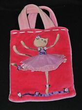 Peluche doudou sac souris danseuse JELLYCAT rouge violet robe rose 24 cm TTBE