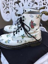 Doc Martens Rare Louie Tattoo Skull 1460 Boots Off White Leather  8hole Uk5/38