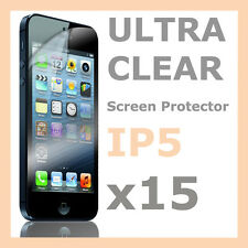 15 x Ultra Clear LCD Screen Protector Cover Film for Apple iPhone 5S 5C 5
