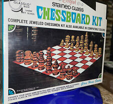 Vintage Glasglo Stained Glass House Studio 1971 Chessboard Kit Sealed New Nos