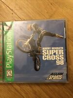 Jeremy McGrath Supercross '98 (Sony PlayStation 1, 1998) PS1 GAME COMPLETE VG