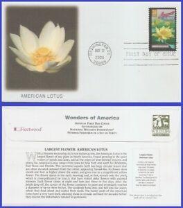 USA3 #4046 U/A FLEETWOOD FDC   American lotus largest flower Wonders of America