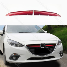 For Mazda3 Axela 2014-2016 RED ABS Chrome Front Grille grill Cover