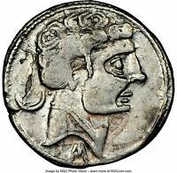 Celtic Spain Spain Segobriga 200-100 BC AR drachma-denarius, NGC VF SCARCE