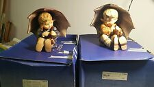"Hummel ""Umbrella Boy"" & ""Umbrella Girl"" TMK 5 152/0 A and 152/0B Figurine Goebel"