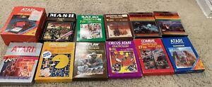 Lot of 12 CIB Atari 2600 Games - Pac-Man, Defender, More - Tested