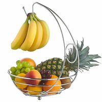 Chrome Banana Hanger Tree Holder Fruit Storage Bowl Basket Stand Hook By Apollo