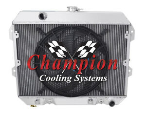 "2 Row Perf Champion Radiator W/ 16"" Fan for 1975 - 1978 Nissan 280Z L6 Engine"