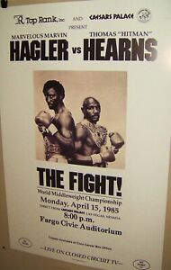 MARVIN HAGLER vs TOMMY HEARNS The FIGHT! RP Poster April 1985 Very COOL