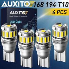 AUXITO 4x T10 White Error Free LED License Map Light Bulb 2825 194 168 W5W 6000K