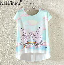 Whatever Forever Light Summer T-Shirt Kawaii Harajuku Pastel Goth - LS0018