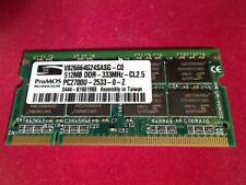 512MB DDR 333MHz PC2700 SODIMM Ram Arbeitsspeicher Dell PP05L D600 Latitude