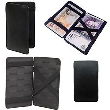 Black Golunski Leather Magic Wallet Milkman Taxi,Trader Money, Bus, Note Puzzle
