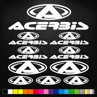 Compatible ACERBIS 15 Stickers Autocollants Adhésifs Auto Moto Voiture Sponsor