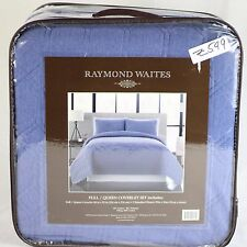Raymond Waites Bedding 3 Piece Cameron Full/Queen Coverlet Set Blue Z549