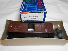 HO TRAIN ROUNDHOUSE 40' WOOD BOXCAR KIT SEABOARD #15411 MINT!